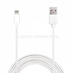Кабель для iPhone 5 / 5S / 5C, iPad 4 и iPad mini PURO 2mt 2.1A W/LIGHTNING CONNECTOR, цвет белый (CAPLT2MT)