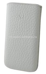 Кожаный чехол для HTC One X BeyzaCases Retro Super Slim Strap, цвет flo white (BZ22854)