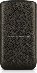 Кожаный чехол для HTC Wildfire S BeyzaCases Retro Super Slim Strap, цвет flo black (BZ21314)