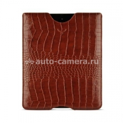 Кожаный чехол для iPad 2 Mapi Sestos Durable Slim Case, цвет croco brown (M-150760)