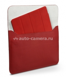 Кожаный чехол для iPad 3 и iPad 4 SGP Leather Case illuzion Sleeve Series, цвет Dante Red (SGP07633)