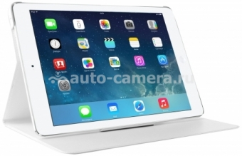 Кожаный чехол для iPad Air 2 Puro Booklet, цвет White (IPAD6BOOKSWHI)
