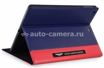 Кожаный чехол для iPad Air Aston Martin Racing Folio case, цвет blue/red (TDBKIPAD4B063)