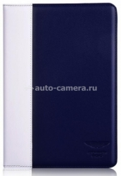 Кожаный чехол для iPad Air Aston Martin Racing Folio case, цвет blue/white (TDBKIPAD4B062)