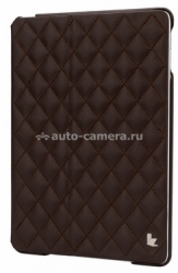Кожаный чехол для iPad Air Jisoncase со стеганым узором, цвет brown (JS-ID5-02H20)