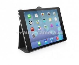 Кожаный чехол для iPad Air Macally Protective case and stand, цвет Black (BSTANDPA5-B)