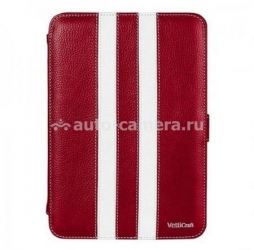 Кожаный чехол для iPad mini Vetti Craft Leather Case Unity Series, цвет red/ white (Y110109110110)