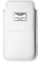 Кожаный чехол для iPhone 4 / 4S Aston Martin Racing Chic Case, цвет White (CCIPH4001B)
