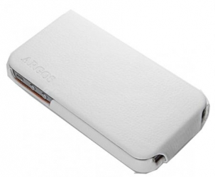 Кожаный чехол для iPhone 4/4S SGP Leather Case Argos Series, White (SGP06829)