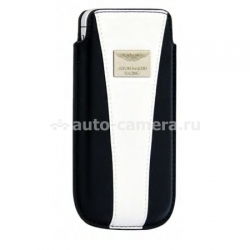 Кожаный чехол для iPhone 5 / 5S Aston Martin Racing chic, цвет blue/white (RACCIPH5062D)