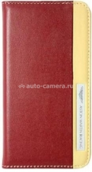 Кожаный чехол для iPhone 5 / 5S Aston Martin Racing folio case with stripe logo, цвет Red (SMBKIPH5C059)
