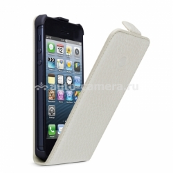 Кожаный чехол для iPhone 5 / 5S Beyza MF-Series Flip, цвет bela cream (BZ25442)