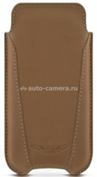 Кожаный чехол для iPhone 5 / 5S BeyzaCases Aston Martin Slim V, цвет camel (AM23462)