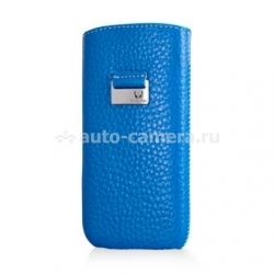 Кожаный чехол для iPhone 5 / 5S Beyzacases Retro Strap Case, цвет Blue (BZ23110)