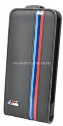 Кожаный чехол для iPhone 5 / 5S BMW M-Collection Flip, цвет Grey (BMFLP5MG)