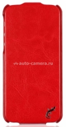 Кожаный чехол для iPhone 5 / 5S G-Case Slim Premium Flip Cover, цвет Red (GG-257)