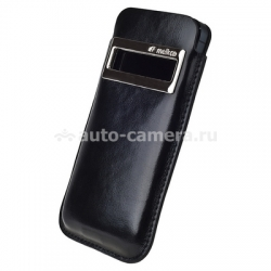 Кожаный чехол для iPhone 5 / 5S Melkco Leather Case iCaller Type with Melkco Cover, цвет Vintage Black