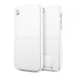 Кожаный чехол для iPhone 5 / 5S SGP Leather Case illuzion Legend, цвет white (SGP09649)