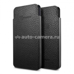 Кожаный чехол для iPhone 5 / 5S SGP Leather Pouch Crumena S, цвет black (SGP09515)