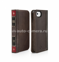 Кожаный чехол для iPhone 5 / 5S Twelve South BookBook, цвет ledger brown (12-1309)