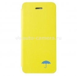 Кожаный чехол для iPhone 5 / 5S Uniq Insignia Rain on my parade, цвет yellow (IP5GAR-INSYEL)