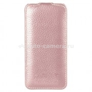 Кожаный чехол для iPhone 5 / 5S Vetti Craft Slimflip Normal Series, цвет pink lychee (IPO5SFNS110107)