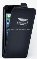 Кожаный чехол для iPhone 5C Aston Martin Racing flip case, цвет black (FCIPH5C001A)