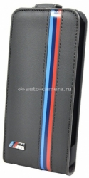 Кожаный чехол для iPhone 5C BMW M-Collection Flip, цвет Grey (BMFLPMMP)