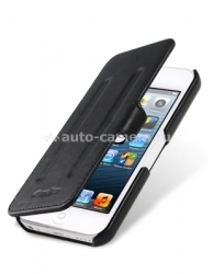 Кожаный чехол для iPhone 5C Melkco Leather Case Booka Type Craft Limited EditionEdition Prime Twin, цвет Black Wax Leather
