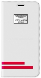 Кожаный чехол для iPhone 6 Aston Martin Racing Folio Case Trace, цвет White (TFCIPH6A0023)