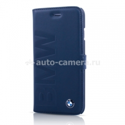 Кожаный чехол для iPhone 6 BMW Logo Signature Booktype, цвет Navy Blue (BMFLBKP6LON)