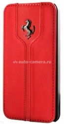Кожаный чехол для iPhone 6 Plus Ferrari Montecarlo Flip, цвет Red (FEMTFLP6LRE)