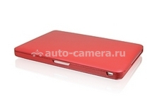 "Кожаный чехол для Macbook Pro 13"" Macally Protection shell, цвет красный (BOOKSHELL-2R) (BOOKSHELL-2R)"
