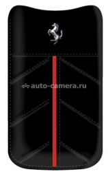 Кожаный чехол для Samsung Galaxy S2 (i9100) Ferrari Sleeve California Leather Case, цвет черный (FECFSLLB)