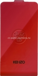 Кожаный чехол для Samsung Galaxy S2 Kenzo Flip Glossy Leather, цвет Red (GLOSSYCOXGS2R)