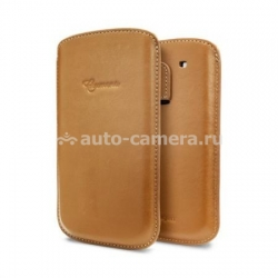 Кожаный чехол для Samsung Galaxy S3 Crumena Leather Pouch, цвет Vegetable Brown (SGP09179)