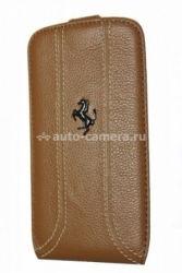 Кожаный чехол для Samsung Galaxy S3 Ferrari Flip FF-Collection, цвет Camel (FEFFFLS3KA)
