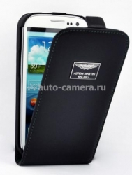 Кожаный чехол для Samsung Galaxy S3 (i9300) Aston Martin Racing Leather Flip Case, цвет Black (FCSAMI93001A)