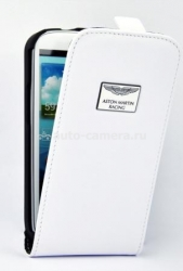 Кожаный чехол для Samsung Galaxy S3 (i9300) Aston Martin Racing Leather Flip Case, цвет White (FCSAMI93001B)