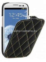 Кожаный чехол для Samsung Galaxy S3 (i9300) Vetti Craft Slimflip Diamond Series, цвет black (SGY93SFDS110101)