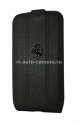 Кожаный чехол для Samsung Galaxy S4 (i9500) Ferrari Flip FF-Collection, цвет black (FEFFFLS4BL)