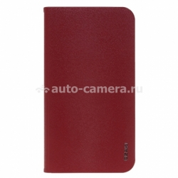 Кожаный чехол для Samsung Galaxy S4 (i9500) Ozaki Slim folio case, цвет Red (OC740RD)
