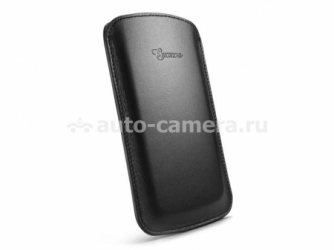 Кожаный чехол для Samsung Galaxy S4 (i9500) SGP Leather Pouch Crumena, цвет black (SGP10184)