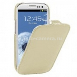 Кожаный чехол для Samsung Galaxy SIII Vetti Craft Slimflip Normal Series, цвет khaki lychee (SGY93SFNS110113)