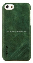Кожаный чехол-накладка для iPhone 5C Melkco Leather Snap Cover Craft Limited Edition Prime Dotta, цвет Classic Vintage Green