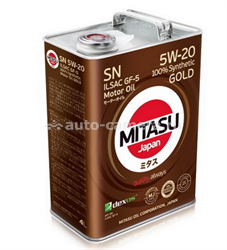 Масло Mitasu 5W-20 GOLD MJ-100-4, 4л
