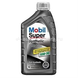 Масло Mobil 10W-30 Super Synthetic, 0.946л