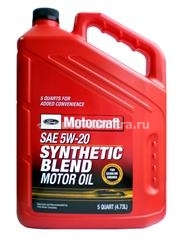 Масло Motorcraft 5W-20 Premium Synthetic Blend Motor Oil XO 5W20 5QSP, 5л