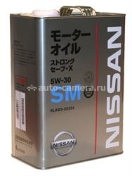 Масло Nissan 5W-30 Strong Save-X KLAM3-05304, 4л