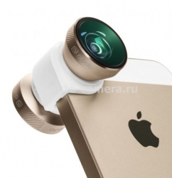 Объектив для iPhone 5 / 5S Olloclip 4 in 1, цвет gold (OCEU-IPH5-FW2M-GDW)